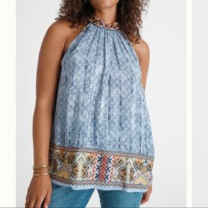 ANTHROPOLOGIE Jina Halter Blouse NWT in Size SP